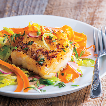 Pan Seared Cod Sauteed Vegetables With Lemon Butter Recipe From Price Chopper