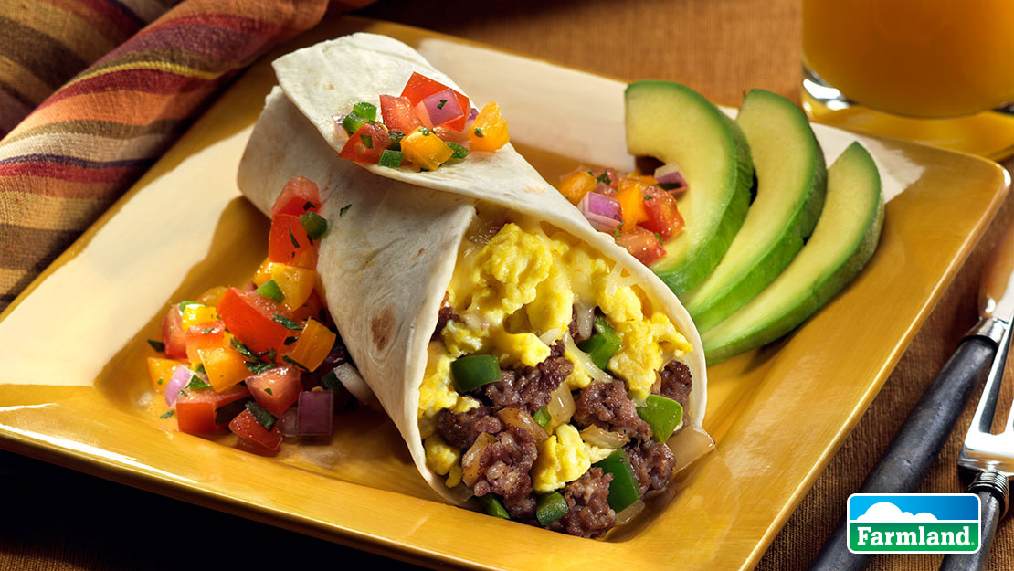 Farmland Sausage Breakfast Burrito Recipe From Price Chopper
