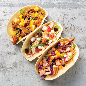 Pulled Chicken Tacos 3 Ways Recipe From Price Chopper