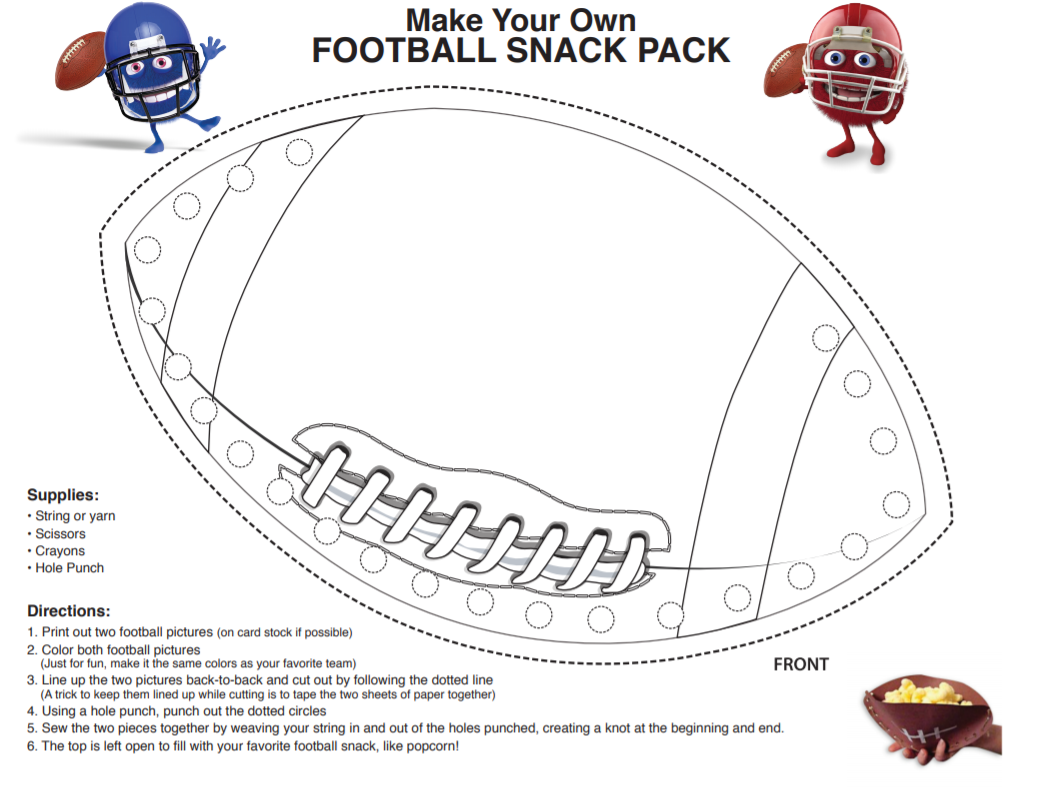Click to download pdf of the Football Snack Pack