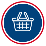 icon for shopping solo with shopping basket
