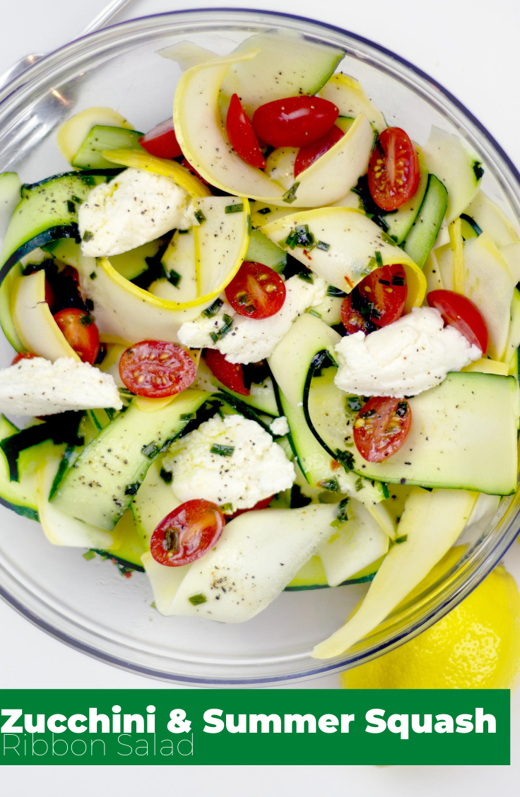 Zucchini & Summer Squash Ribbon Salad