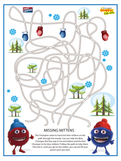 Click on Missing Mittens image to download PDF