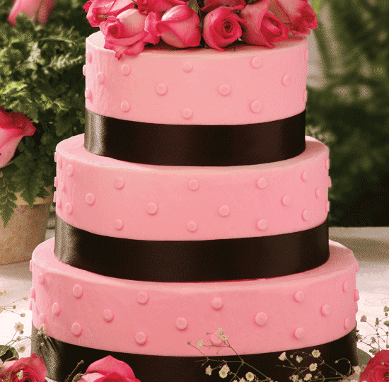 Pink Polka Dot with Ribbon