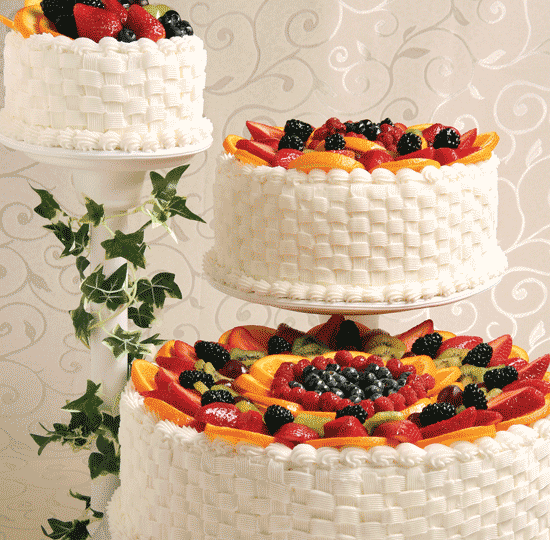 Buttercream Basket Weave with Fruit Rainbow